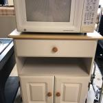 Microwave and cabinet