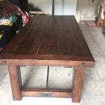 Heavy wood table.