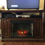 Electric Fireplace Entertainment and Storage