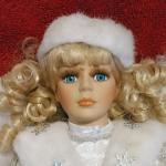 Porcelain Doll - Snow Angel - 16""
