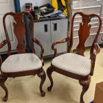 Two Dining room end chairs