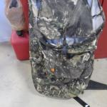 camo fleece hunting back pack