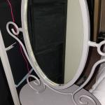 Table top metal frame mirror