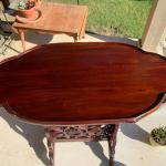 TALL Oval Rosewood Table