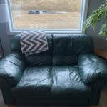 Sofa and loveseat with queen Ann chair