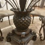 Beautiful Glass Top Pineapple Table Dining Room Set