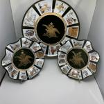 RARE VTG Anheuser Busch 3 Glass Plate