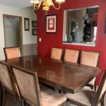 Solid Wood Mahogany Dinning Room Table - (8 seater)