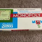 A vintage 1960 monopoly board game