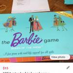 1994 retro Barbie board game