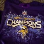 Adult xl Minnesota Vikings 2009 nfc champions shirt