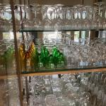Crystal and glass stemware