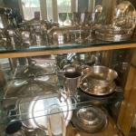 Collection of antique silverplate items