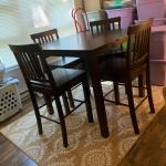 Pub Height Table & 4 Matching Chairs