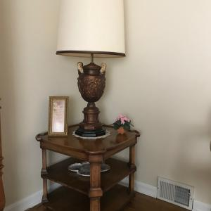 Photo of Table and classical lamp