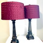 pair  lamps  28 inches tall