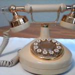 Western electric princess/french style push button phone