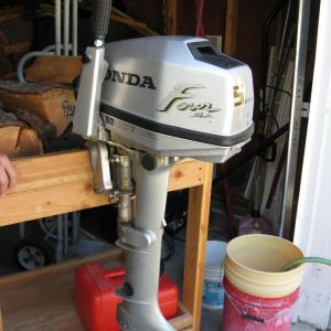 Photo of 5 hp new Honda trolling motor with extra long shaft.
