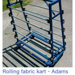 rolling fabric cart