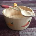Real wood salad bowl & utencils