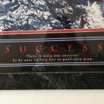 Relaxing picture with a saying of success