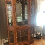 Penn House Lighted  glass cabinet