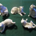 Five LENOX cats