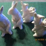 Four LENOX  rabbits