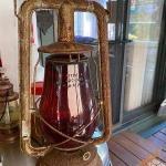 Lantern with rare red globe
