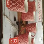 BRAND NEW EXPENSIVE COLOMBIA 6 piece mug set