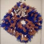 Square Florida Gators Deco Mesh Wreathes for sale