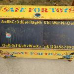 Large toy storage box circa 1959