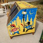 Vintage retro large storage toy box 1959
