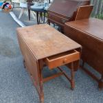 Antique wood kitchen table