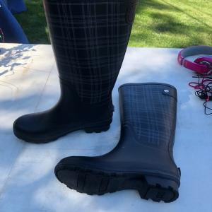 Photo of Women's Rain Boots and Men's sweater