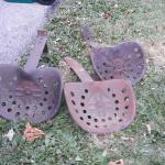 Antique tractor seats