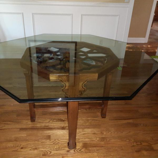 Photo of Dining Room table, 6 chairs, buffet