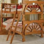 Wagon Wheel Bunk Beds
