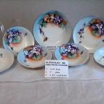 ALTROHLAU  MZ  CZECHOSLOVAKIA  floral painted dishes
