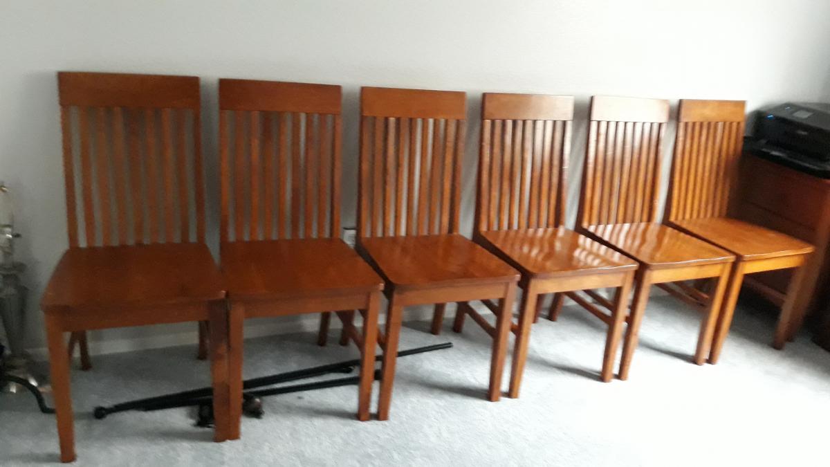 Photo 3 of 6 Dining chairs solid wood