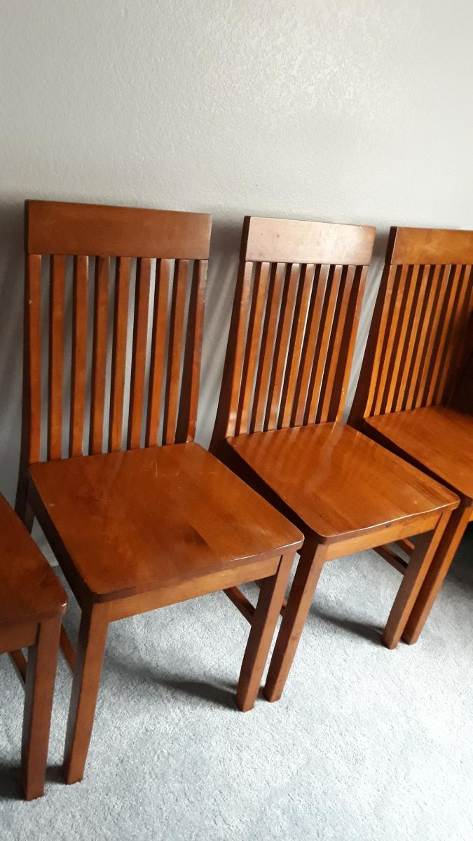 Photo 2 of 6 Dining chairs solid wood