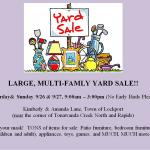 LARGE, MULTI-FAMLY YARD SALE!!