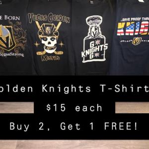 Photo of Vegas Golden Knights (VGK) T-Shirts