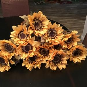 Photo of ONE DOSEN OF  BEAUTIFUL  ARTIFICIAL SUNFLOWERS .