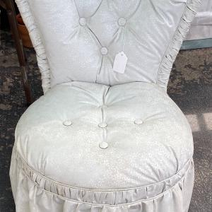 Photo of Vintage High Back Heart Shaped Tufted Boudoir Chair