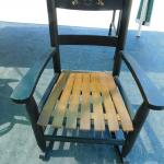 Vintage Child's Solid Wooden Rocker