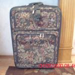 "Tapestry Pullman Luggage 32"" with wheels/toiletry bag"