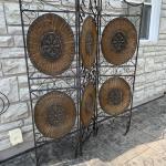 Ornate Metal and Wicker Screen