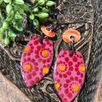 Copper, enamel party earrings!