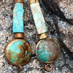 Turquoise earrings! Handmade!